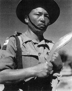 A Gurkha Havildar  Havildar in the 2nd Battalion of the 5th Royal Gurkha Rifles in the Indian Army during World War II