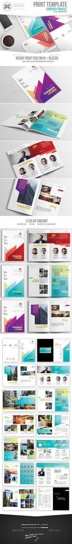 Company Profile Brochure Template InDesign INDD. Download here: https://graphicriver.net/item/company-profile/17276156?ref=ksioks
