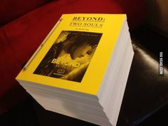 The 'Beyond: Two Souls' script...Holy..I wouldn't wanna write that