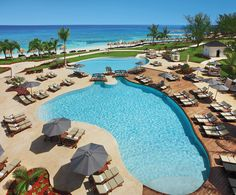 The pool at Secrets St. James resort in Montego Bay, Jamaica