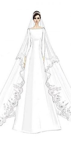 Meghan Markle Wedding Dresses And Their Twins ❤︎ Wedding planning ideas & inspiration. Wedding dresses, decor, and lots more. Source by Tothefarm idea drawing Dress Design Drawing, Dress Design Sketches, Fashion Design Sketchbook, Fashion Design Drawings, Fashion Sketches, Wedding Dress Drawings, Wedding Dress Illustrations, Fashion Drawing Dresses, Fashion Illustration Dresses