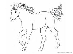 Simple Horse Drawings For Kids Images & Pictures - Becuo