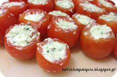 Greek Beauty, Vegan Cafe, Tomato And Cheese, Greek Recipes, Food Hacks, Food Tips, Finger Foods, Cooking Tips, Food And Drink