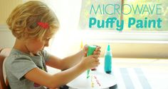 Microwave Puffy Paint for Kids