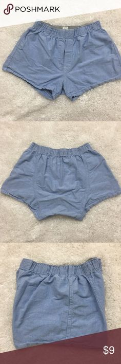 """J. Crew Men's Boxer Short, Blue, Medium, 32-34 J. Crew men's boxer short with banded waist and blue color.  Fabric is made of 100% cotton. Machine washable.   Size Medium 32-43 Rise 11"""" Seam 3.5"""" Approximate only.  Great conditions.  No stains or holes.  Freshly washed.  Stored in a smoke and pet free household.  Please see all pictures in details or ask any questions to avoid return.  Check out my store for other items on sale! J. Crew Underwear & Socks Boxers"""