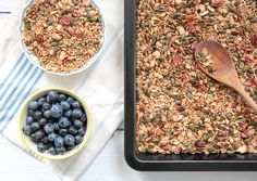 Buchweizen Kürbiskern Granola - glutenfrei, vegan, ohne Milch, ohne raffinierten Zucker