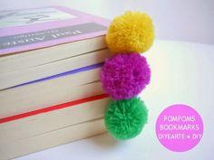 POMPOMS BOOKMARKS DIY CRAFT | MARCAPÁGINAS POMPONES