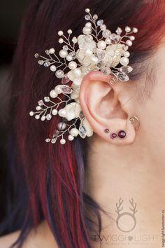 Wedding Ear Cuff |  Свадебный кафф с веточками в интернет магазине на Ярмарке Мастеров