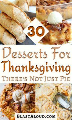 Thanksgiving Desserts Easy, Fall Dessert Recipes, Holiday Desserts, Holiday Baking, Easy Desserts, Fall Recipes, Holiday Recipes, Holiday Foods, Happy Thanksgiving