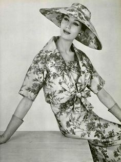Dior 1958 - I'd love an ensemble made entirely of toile!
