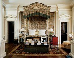 Oscar de La Renta countryside house #decor #design #home #inside #floralprint #classic #charming