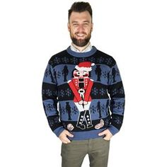 This Adult The Nutcracker Ugly Christmas Sweater is the perfect parody ugly Christmas sweater! Be the star of your party today with this hilarious sweater! Easy Costumes, Halloween Costumes, Cool Suits, Suits You, Trendy Halloween, Scary Clowns, Little Christmas, Christmas Humor, Ugly Christmas Sweater