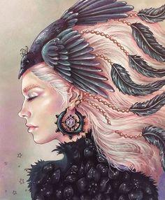 Summer Nights/Sommarnatt Coloring Book by Hanna Karlzon Hanna Karlzon, Coloring Tips, Colouring Techniques, Polychromos, Coloured Pencils, Color Pencil Art, Arte Pop, Coloring Book Pages, Prismacolor