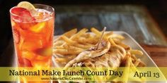 April 13, 2016 - NATIONAL MAKE LUNCH COUNT DAY - NATIONAL SCRABBLE DAY - NATIONAL PEACH COBBLER DAY - NATIONAL THOM