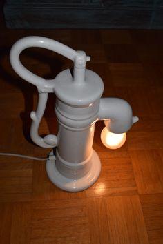 Vintage +Wasserpumpen +Lampe +von Monellabella auf DaWanda.com