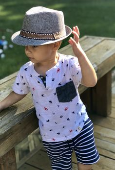9f160c7750890 This fashionable cotton fedora hat is a perfect piece for your toddler.  Very chic and