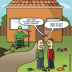 cartoonlijstje: 7 tuiniergrappen - Evert Kwok