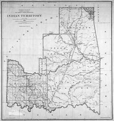 detail from map of indian territory oklahoma 1891