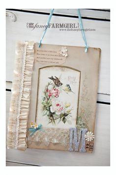 <3  shabby rose bird print crepe paper craft  www.thefancyfarmgirl.com