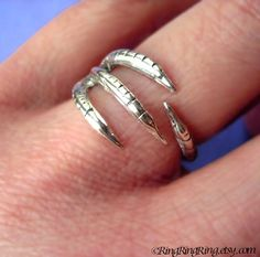 Talon ring jewelry Adjustable 925 solid sterling by RingRingRing, $50.00