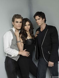 Paul Wesley, Nina Dobrev, and Ian Somerhalder. Stefan, Elena, and Damon. The TVD trio
