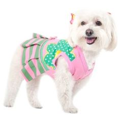 Absolutely adorable. Fits my 7lb Chorkie perfectly. This dress is well made, and worth the money. I would totally buy it again in a flash.