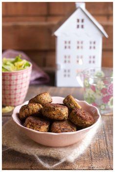 « Comfort food » super douce pour la santé... : croquettes suédoises à l'avoine et au fromage de brebis (avec des haricots blancs)