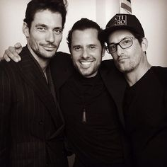 Love it!!  #DavidGandy @marianovivanco and @slypapa at the @dsquared2 Party #LCM ❤️
