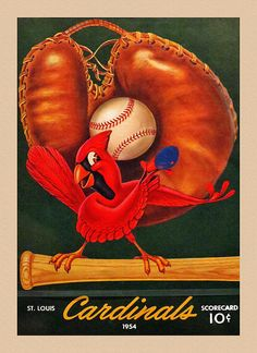 Louis Cardinals Vintage 1954 Scorecard Art Print by Big 88 Artworks. All prints are professionally printed, packaged, and shipped within 3 - 4 business days. Choose from multiple sizes and hundreds of frame and mat options. St Louis Baseball, St Louis Cardinals Baseball, Stl Cardinals, Baseball Equipment, Baseball Stuff, Baseball Teams, Baseball Art, Football, Baseball Wall Decor