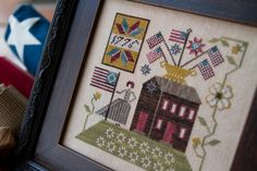 Love this new design by Paulette at Plum Street Samplers. beautiful framing