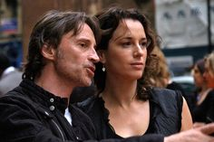 Robert Carlyle with his wife