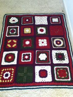 Christmas sampler afghan (buy book) (http://www.ravelry.com/projects/Mayvalley/200-crochet-blocks)