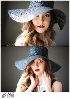 Senior Photography Sioux Falls Beautiful girl, beautiful big floppy hat, natural light portraits, senior posing, senior style