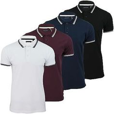 Mens polo #shirt by brave soul #'hero' twin #tipped pique,  View more on the LINK: 	http://www.zeppy.io/product/gb/2/251884448032/