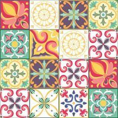 tattoo - mandala - art - design - line - henna - hand - back - sketch - doodle - girl - tat - tats - ink - inked - buddha - spirit - rose - symetric - etnic - inspired - design - sketch Ceramic Wall Tiles, Tile Art, Tile Patterns, Print Patterns, Grand Menage, Plakat Design, Mosaic Projects, Decoupage Paper, Pottery Painting