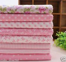 8 PC lot 100% coton rose prédécoupé tissu courtepointe patchwork quarts gras cou