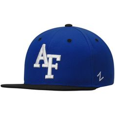 d5389bda897 Air Force Falcons Zephyr Z11 Snapback Adjustable Hat - Royal