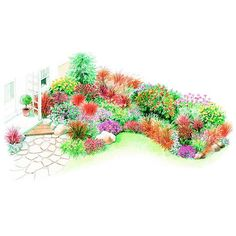 Create Fall Appeal        Put on a show at the end of the season with this cottage-style garden plan. Garden size: 15 by 15 feet.