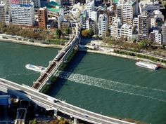 Sumida-river looked down from Tokyo Sky Tree