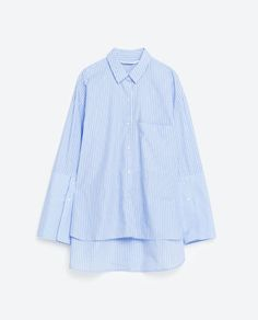 Image 8 of STRIPED CUFFS SHIRT from Zara