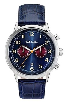 New Arrivals 2017 Mens Top Fashion Brands #Promotions  New In Store Today Paul Smith Men's Quartz Watch with Blue Dial Chronograph Display and Blue Leather Strap P10012   #Dontmissout #FashionSale  #Summer #Mensware #TShirts #MensClothing #JustFeatured #UrbanFashion