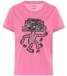 X Keith Haring Embellished T-Shirt - Coach | mytheresa.com