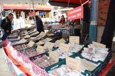 Saucissons in Dijon Market