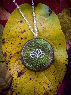 Orgonite Lotus Necklace  Free Shipping In US by FountainOfSpirit