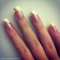 Here are some nail art ideas for the lovers of simple and cute things. These nail art ideas are so easy to do and they still look so stylish and modern. French Nails, Bridal Nails French, Cute Nail Art, Cute Nails, Pretty Nails, Nail Tip Designs, Nagel Bling, Wedding Manicure, Classic Nails