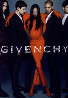 This Ad from Givenchy in my opinion is a good representation of color because the women in orange pops and really draws attention to herself