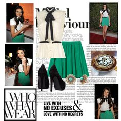 Kendall, created by classy-swag on Polyvore featuring the Stella & Dot - Marchesa Studs