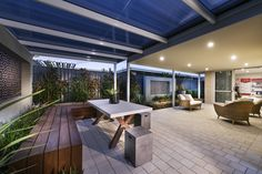 Alfresco Living - Homebuyers Centre Bohemian Display Home - Banjup, WA Australia Cheap Pergola, Outdoor Pergola, Diy Pergola, Pergola Kits, Outdoor Spaces, Outdoor Living, Outdoor Decor, Pergola Ideas, Courtyard Ideas
