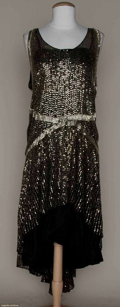 Silver Spangled Party Dress, C. 1925, Augusta Auctions, March 21, 2012 NYC, Lot 234
