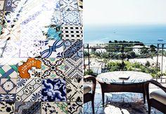 Amalfi coast tiles. Beautiful